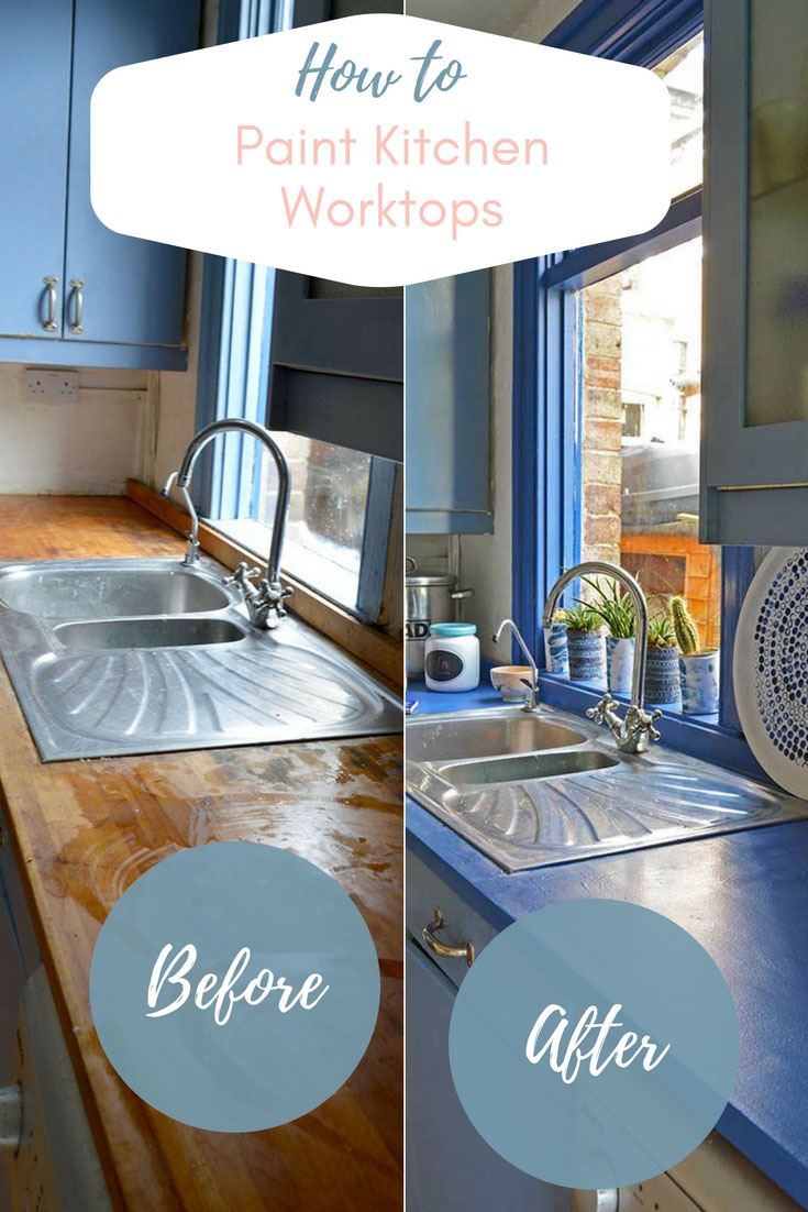 Would you like a new kitchen but can\u0027t afford one? How about giving & How To Update A Kitchen With Painted Worktops - Pillar Box Blue