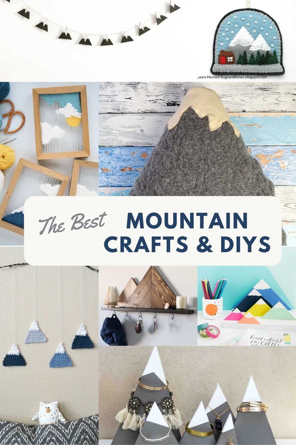 Breathtaking mountain crafts and DIYs