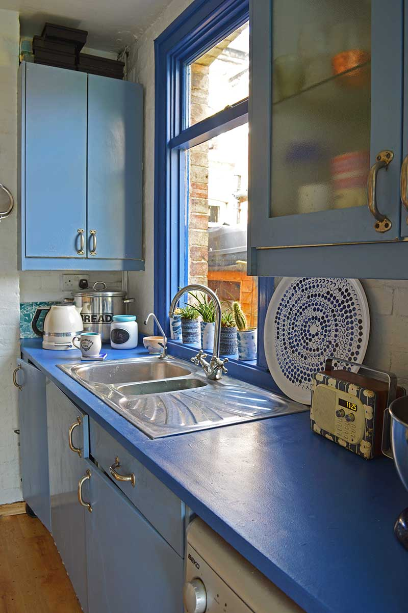 Painted kitchen worktops
