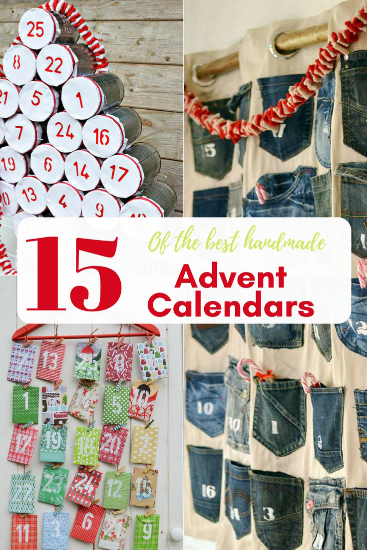 Celebrate the countdown to Christmas with a DIY  Christmas Advent calendar.  Here are 15 of the best handmade advent calendars to inspire you! #christmasadventcalendar #adventcalendar #christmascraft