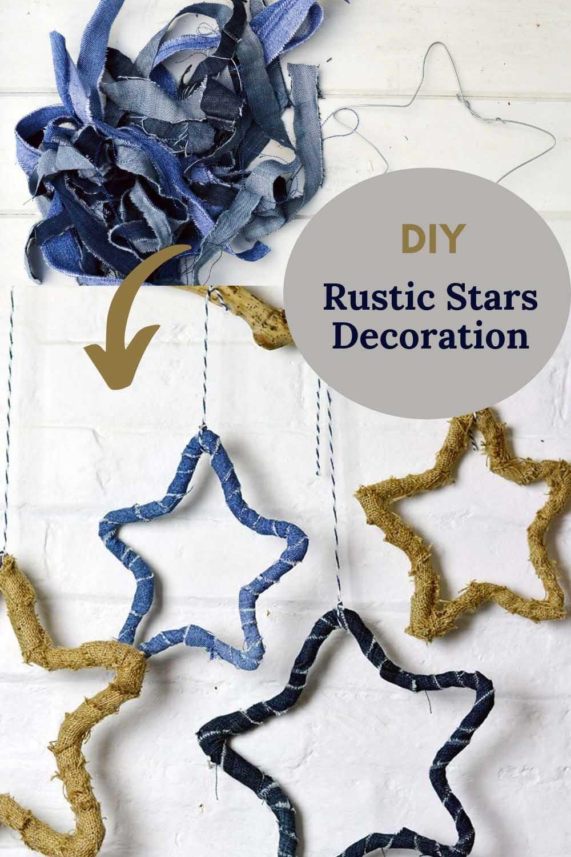 Upcycled denim star decorations