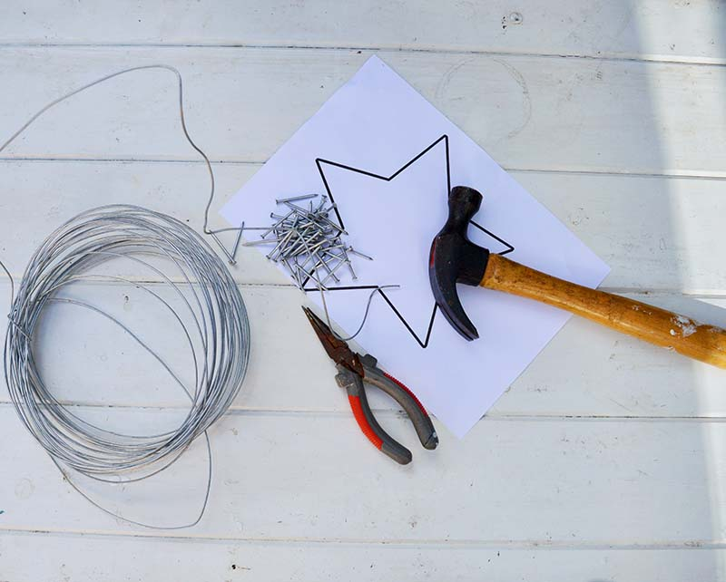 What you need to make rustic stars