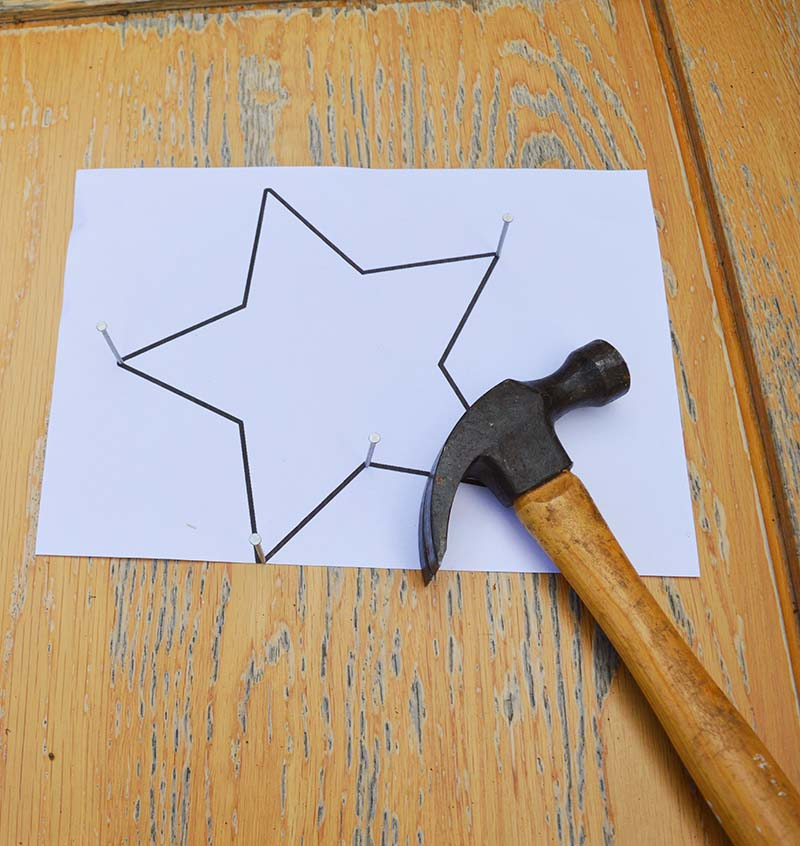 Nailing star template.