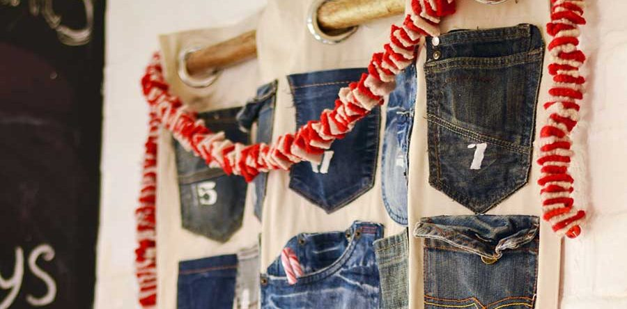 creative diy advent calendars - upcycled denim advent - pillarboxblue.com