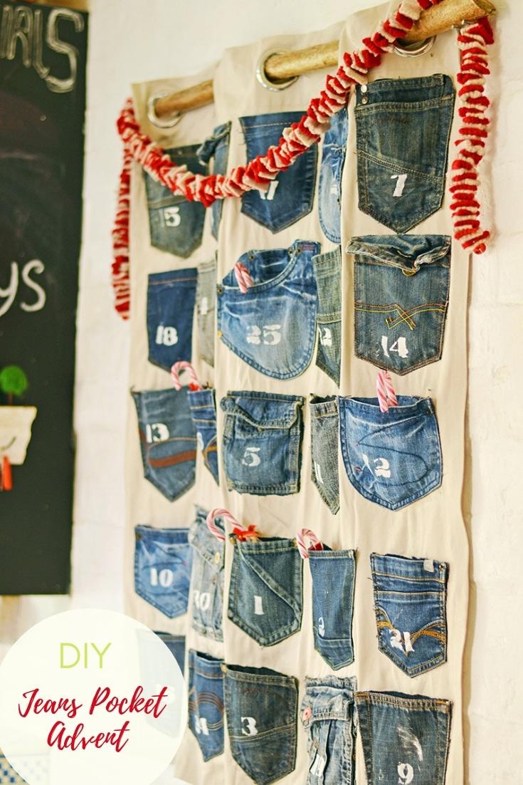 Simple To Make Jeans Handmade Advent Calendar Pillar Box