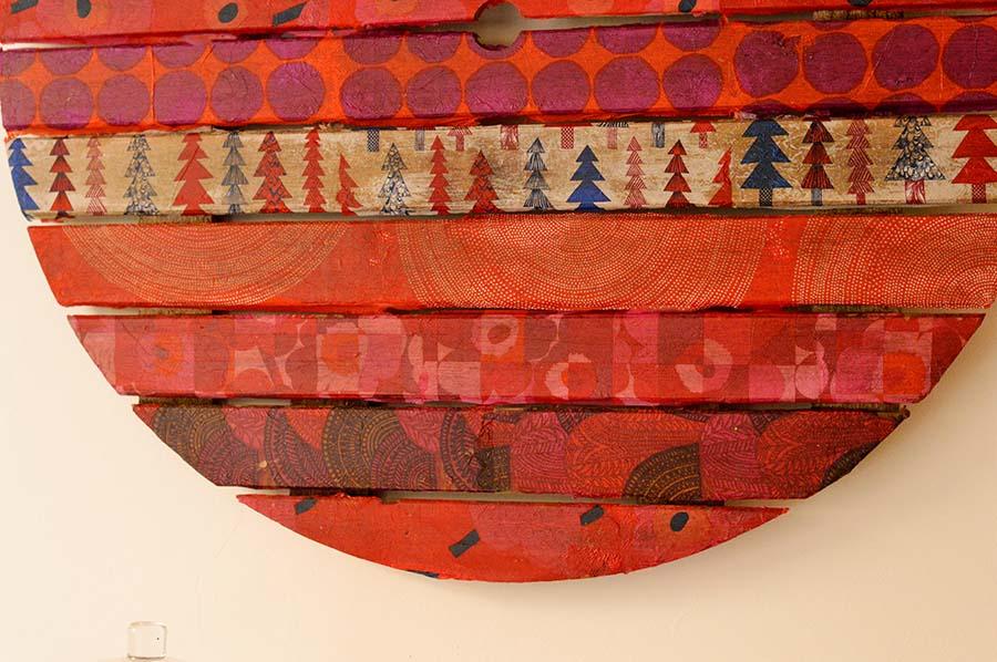 Mid Century Modern Style Marimekko Christmas wall art