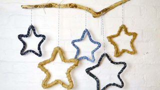 Use the denim scraps from your recycled jeans to make these gorgeous rustic stars. They make for a lovely farmhouse style decoration.