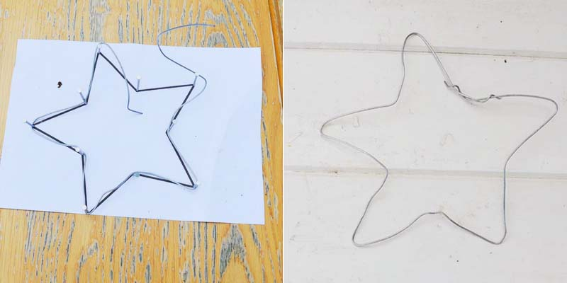 making a wire star frame