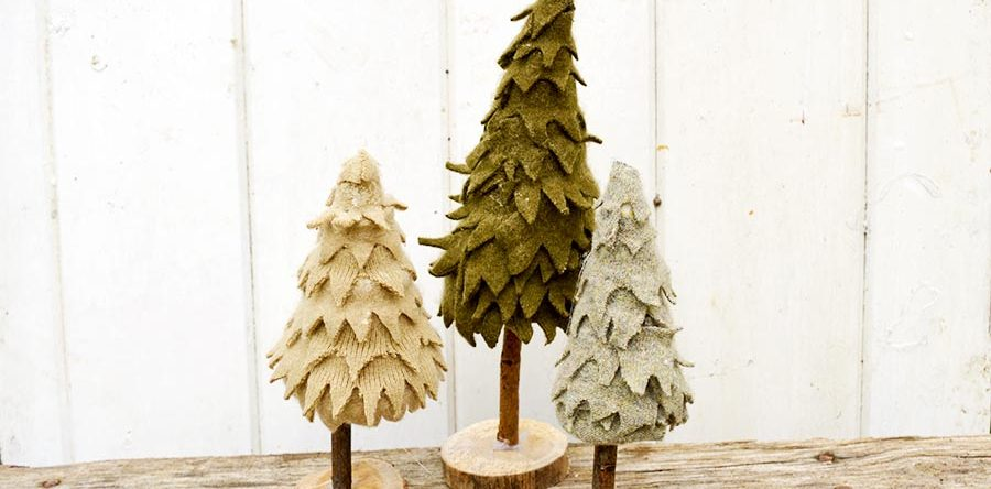 wonderful felt christmas tree made from sweaters - Christmas Tree Blue