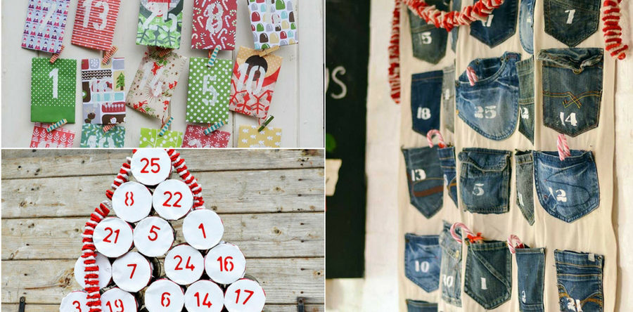 unique ways to make a diy christmas advent calendar pillar box blue