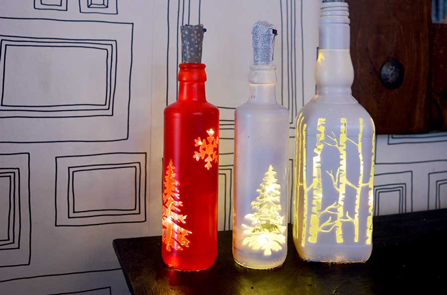 Easy Christmas Bottle Lights To Illuminate Your Home