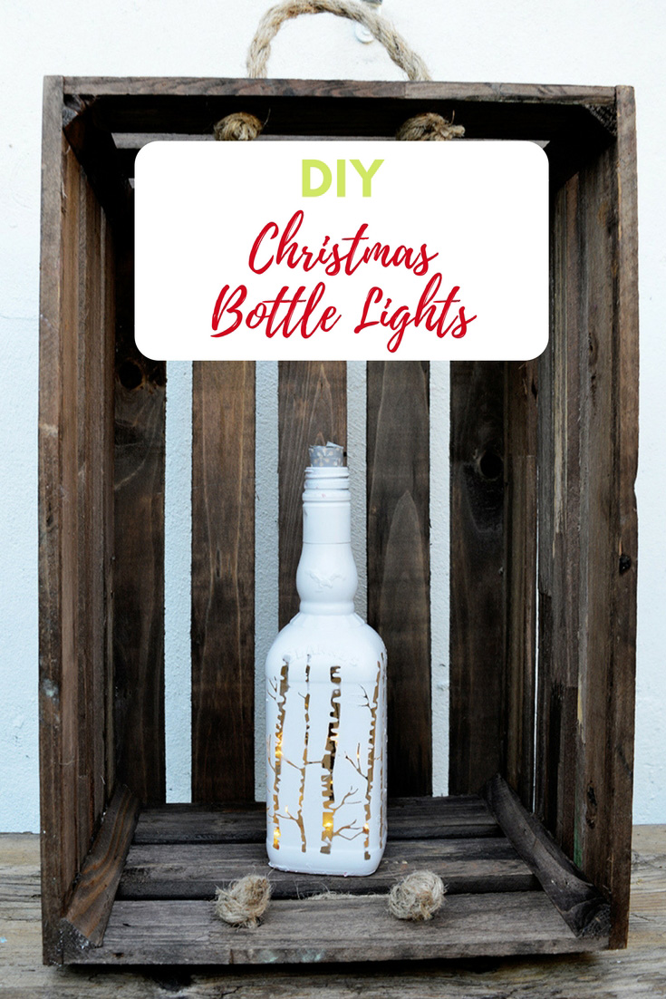 Using cork led lights make some gorgeous Christmas bottle lights to illuminate your home this winter.  So simple no glass drilling required.