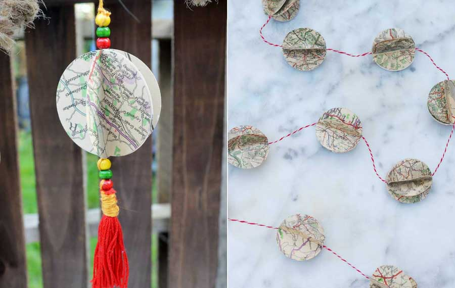 DIY Map decorations