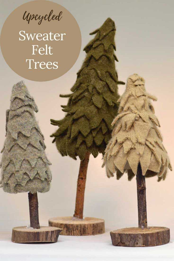 Felted Christmas Trees
