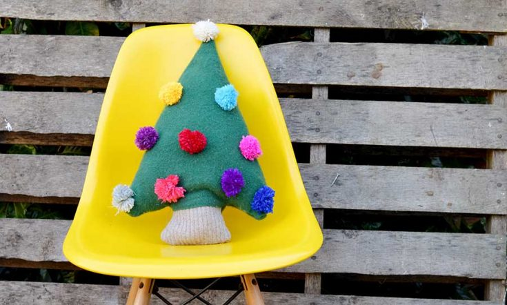 How To Make A Christmas Tree Pillow Form A Sweater