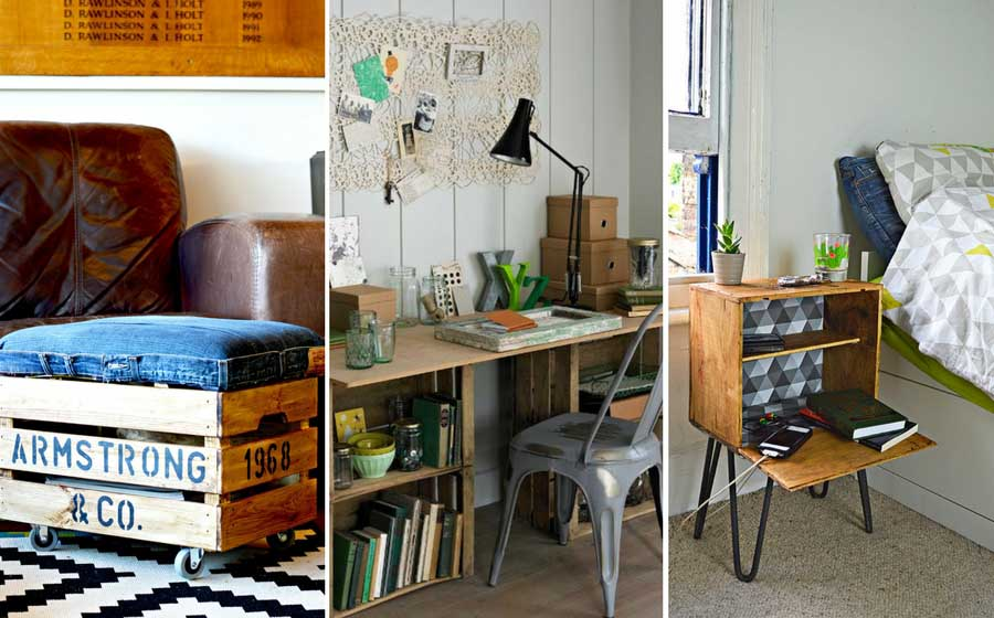 21 of the best ideas to upcycle and repurpose old wooden crates for your home.