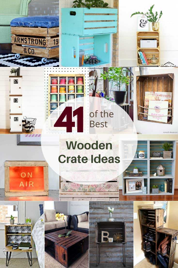 Old wooden crate upcycles and repurposing ideas