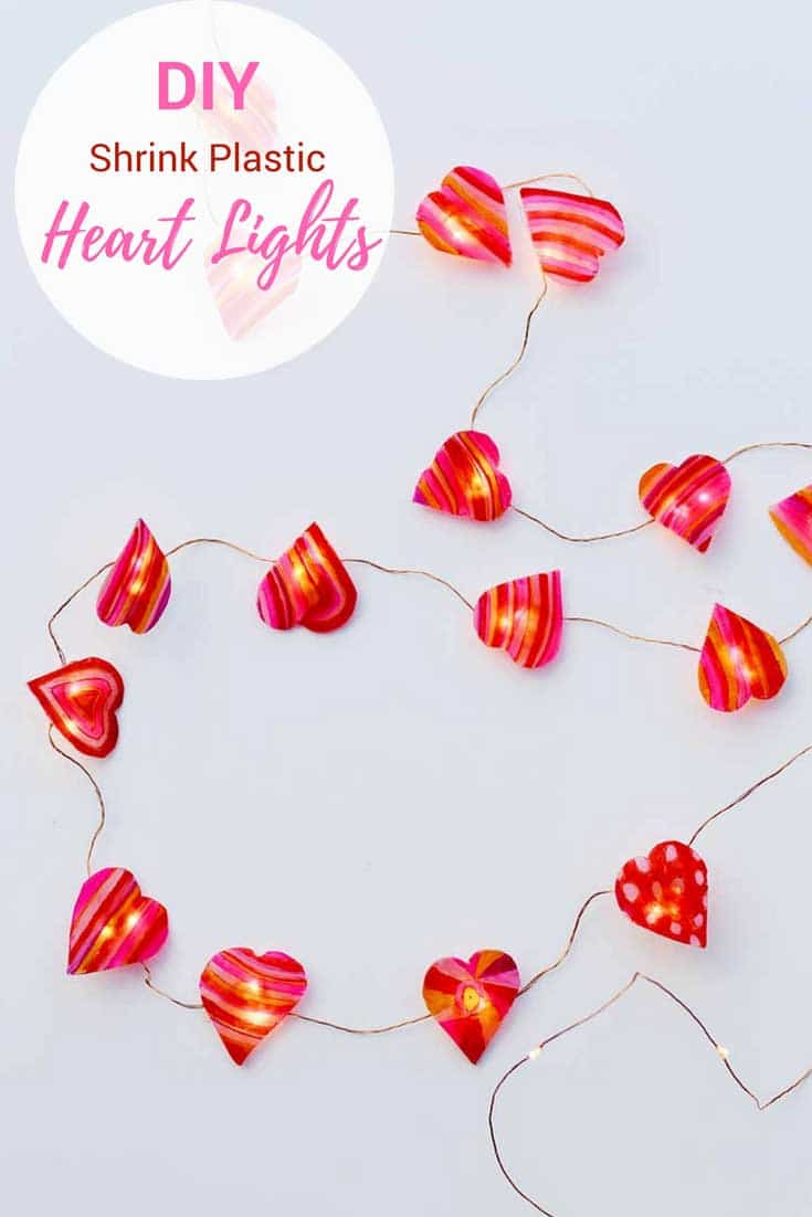 String heart lights