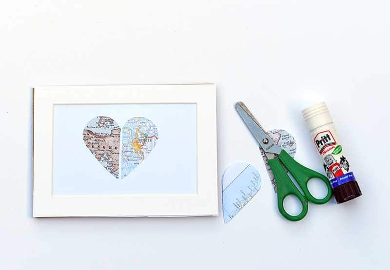 Heart made from Map of 2 special places