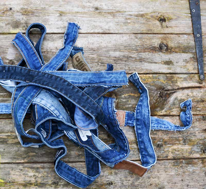 Collection of jeans waistbands