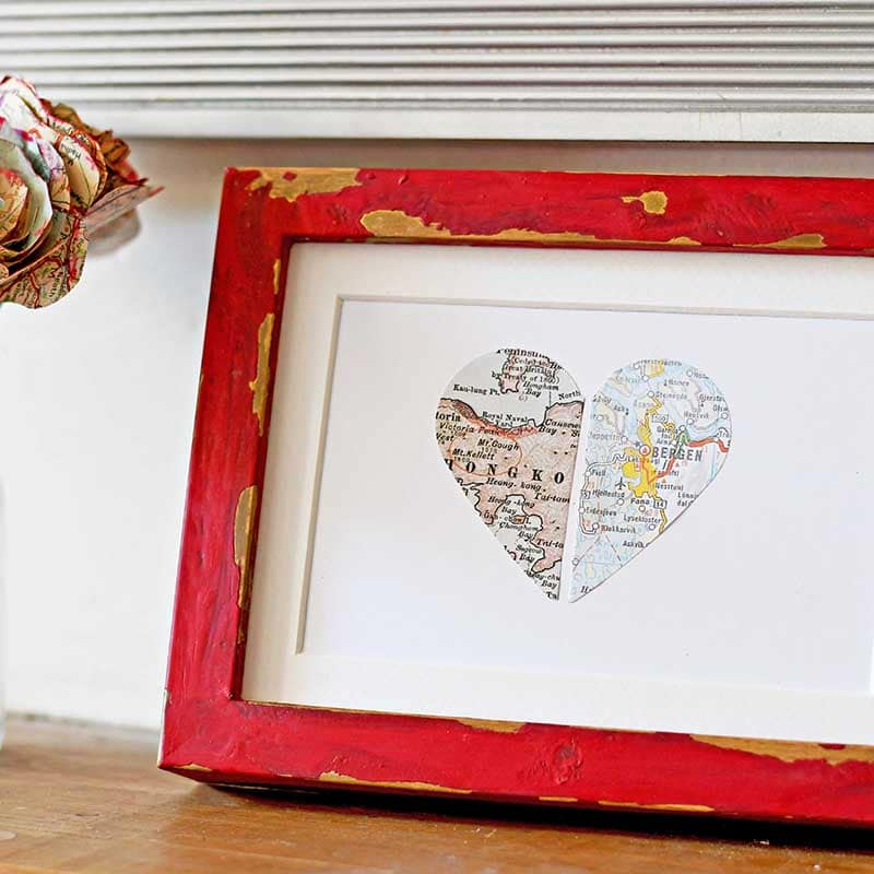 Simple Cute Personalized Map Gift For Lovers - Pillar Box Blue