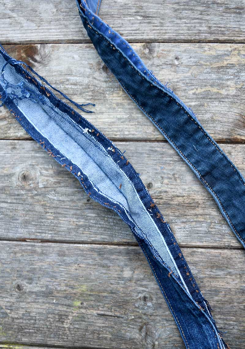 splitting jeans waistband