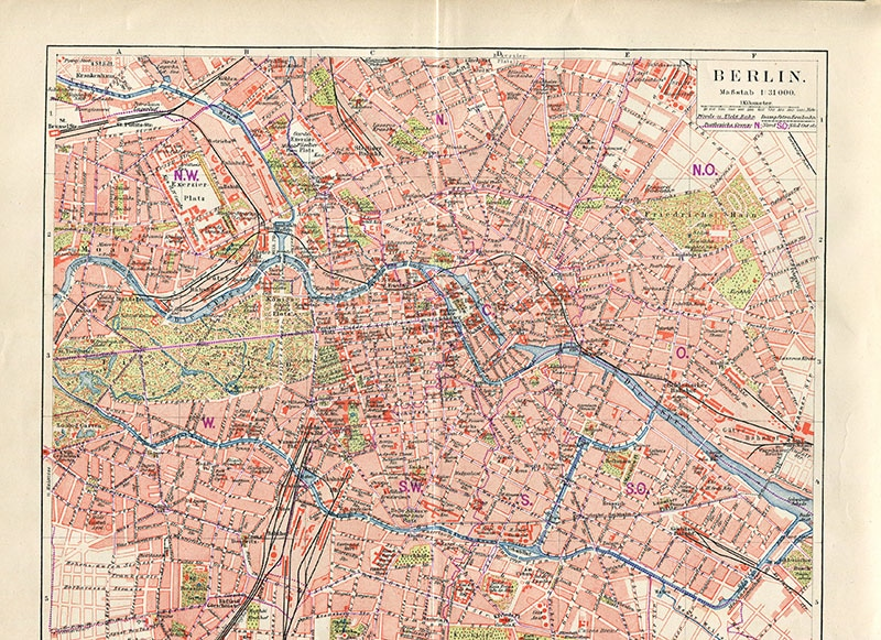 vintage map Berlin City Map