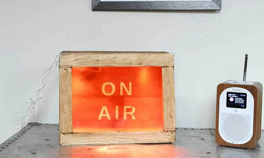 DIY On Air light box sign