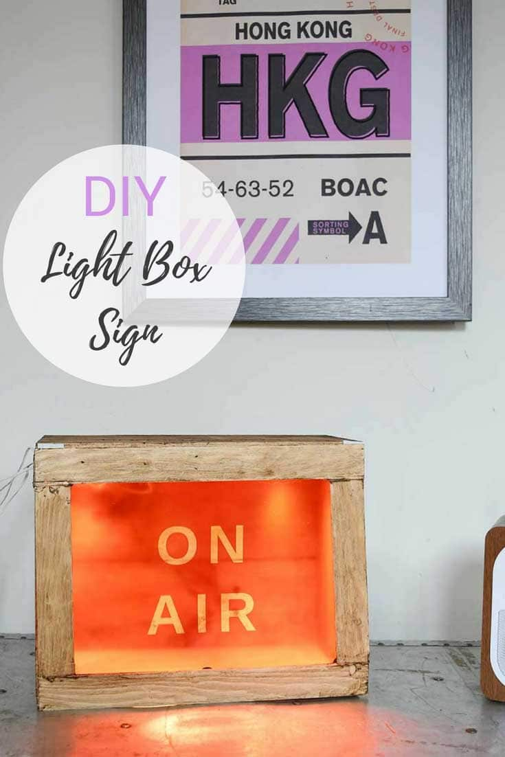 On Air light box sign