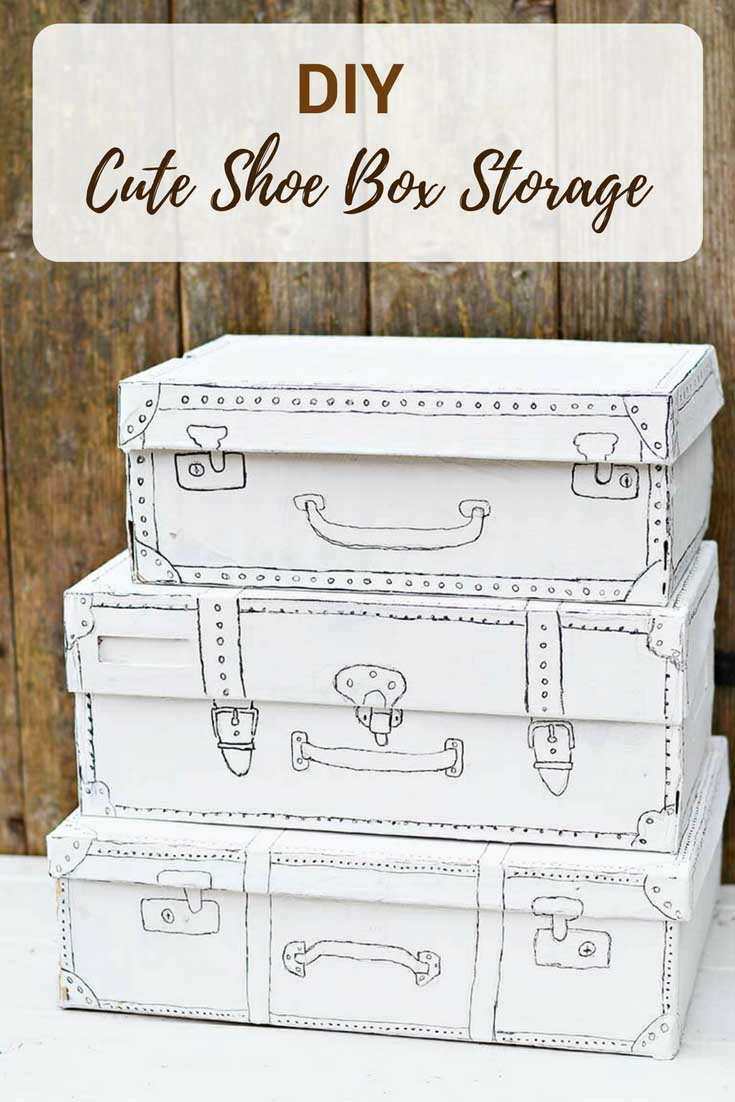 An Easy And Cute Shoebox Craft For The Home Pillar Box Blue