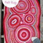 DIY sweater felt rug