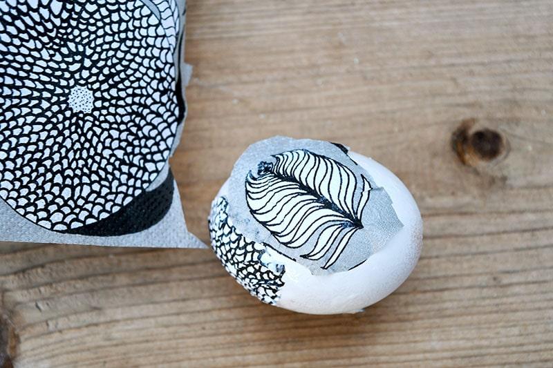 Marimekko easter egg decoupage.