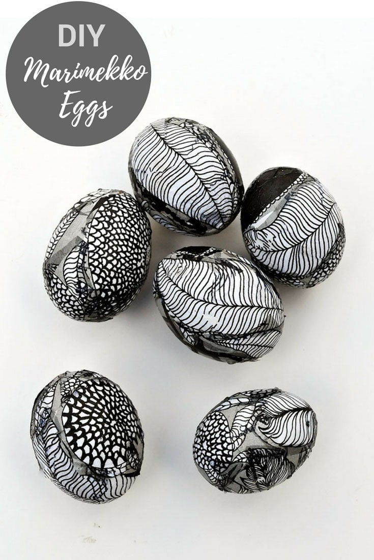 Decorating Easter eggs with Marimekko
