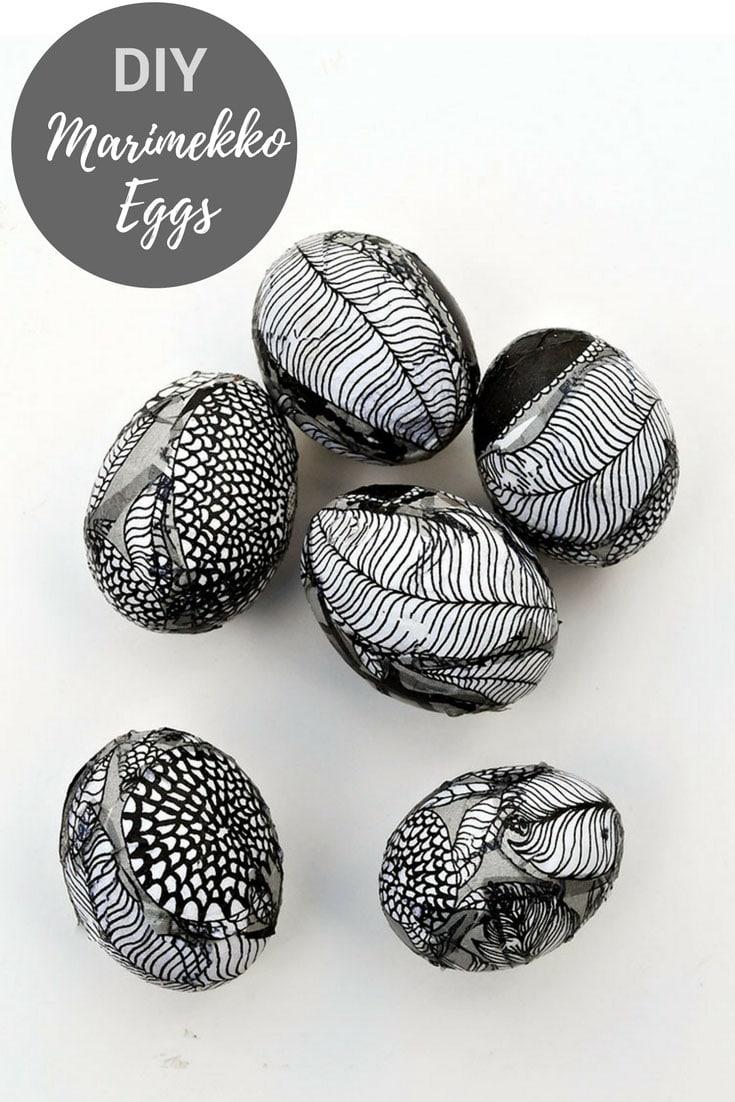 Unique Easter Egg Decorating With Marimekko Decoupage - Pillar Box Blue