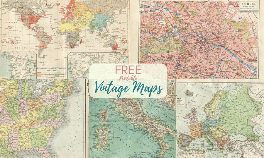 photo about Printable Vintage Maps called Magnificent Cost-free Printable Typical Maps In the direction of Down load - Pillar