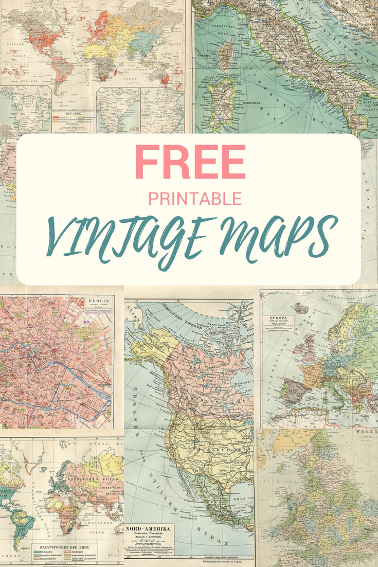 Wonderful free printable vintage maps to download pillar box blue free printable vintage maps gumiabroncs Images