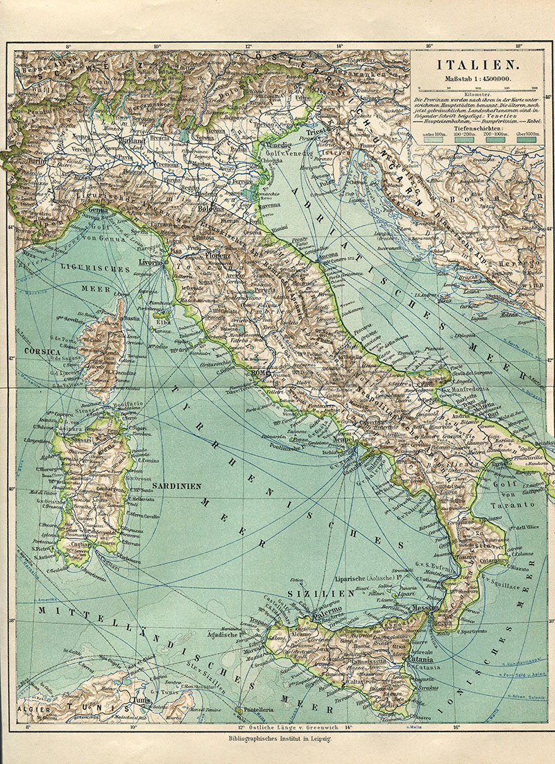 Free Printable Map Of Italy.Wonderful Free Printable Vintage Maps To Download Pillar Box Blue