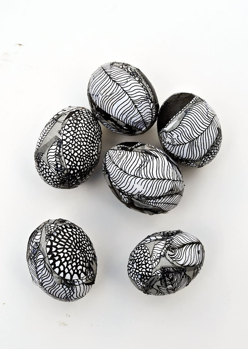 Marimekko decorated Easter eggs