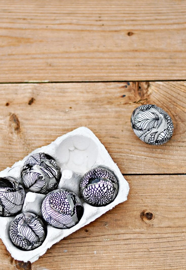 Unique Easter Egg Decorating With Marimekko Decoupage