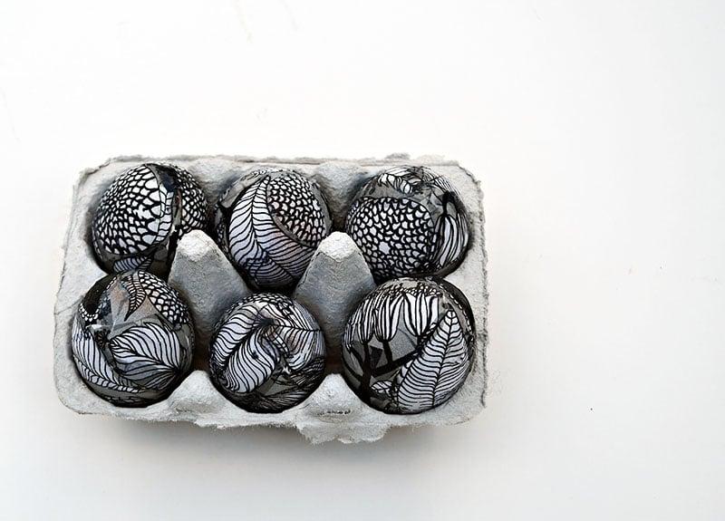 Easter egg decorating with Marimekko napkins