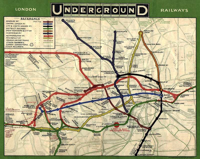 maps for crafts tube map