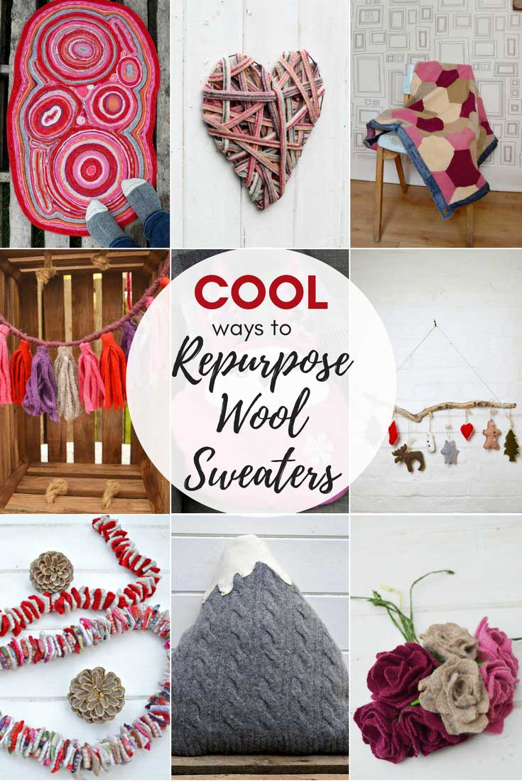 Cool ways to repurpose old sweaters.