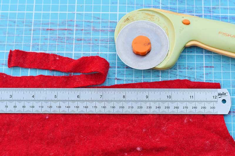 Rotary cutter mat felt strips