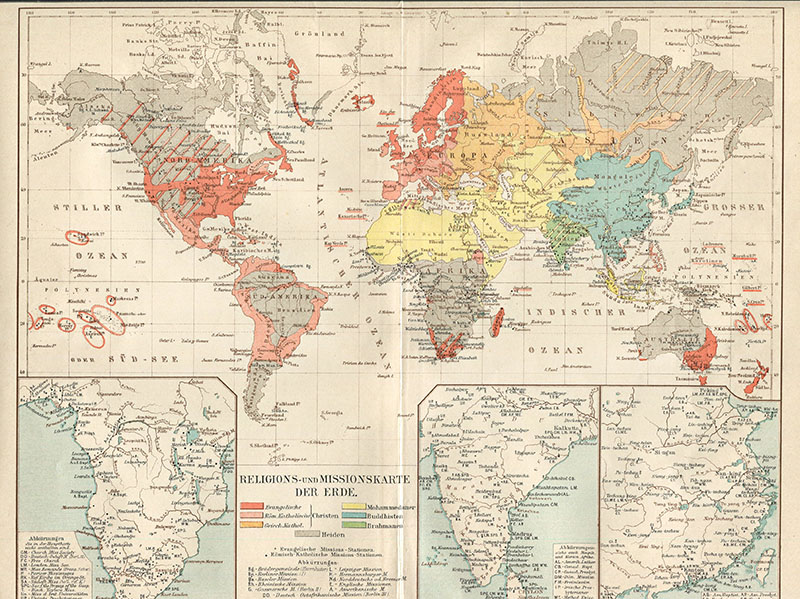 Vintage World Map 1898