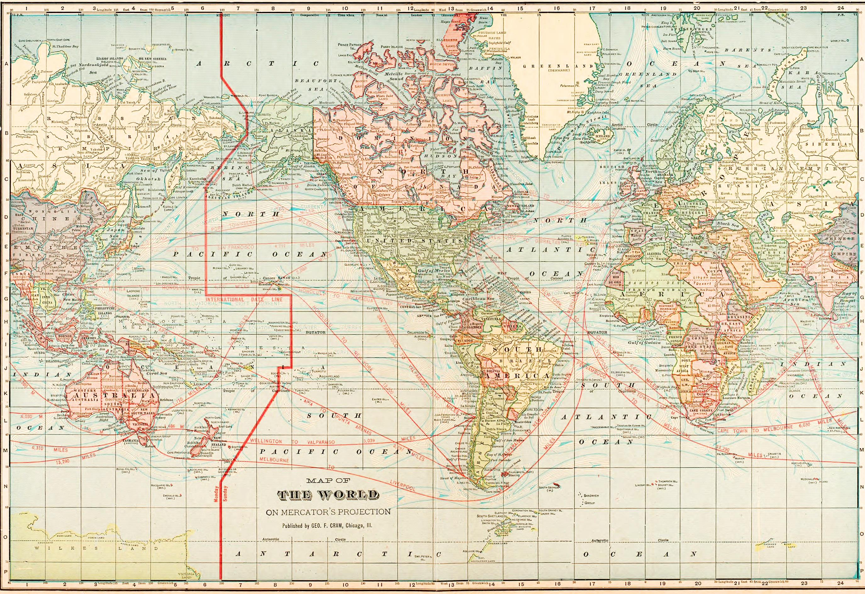 Vintage World Map Save the Date US States and Countries of your choice