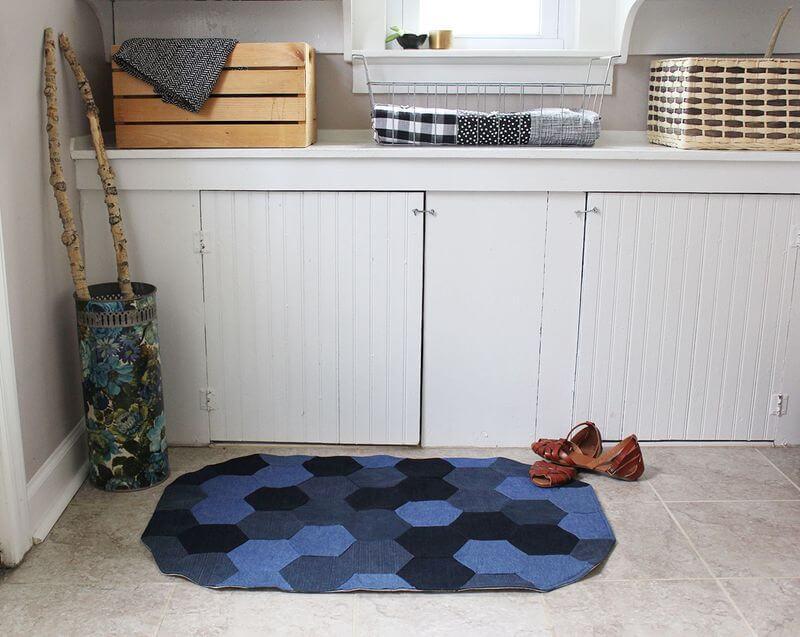 DIY Denim rugs