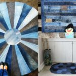 9 unique blue jean rug DIY's