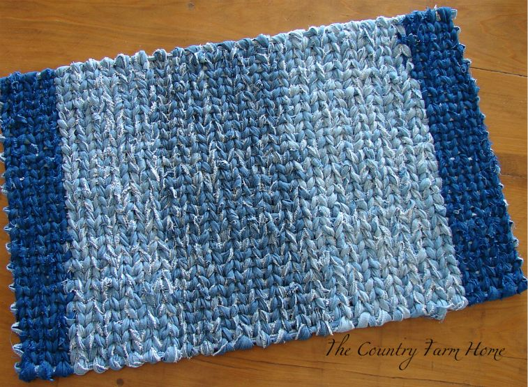 Woven Blue Jeans Rug