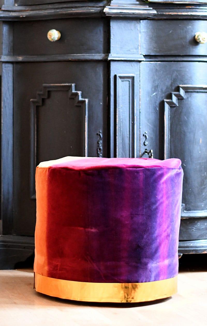 Velvet DIY floor pouf
