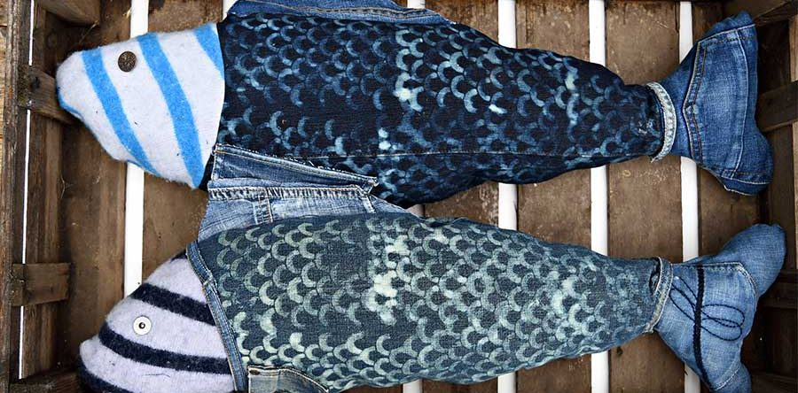 How To Make A Fun Repurposed Denim Fish Pillow